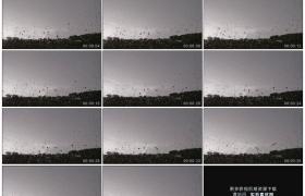 高清实拍视频素材丨下雨天水珠从玻璃窗上流下