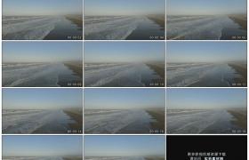 高清实拍视频素材丨航拍海水冲刷沙滩