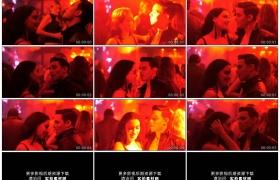 高清实拍视频素材丨灯光闪烁的舞厅中男女相对跳舞