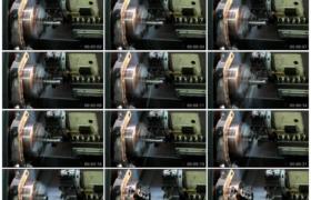高清实拍视频素材丨特写机械工厂里铣削机铣削金属部件