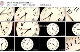 高清实拍视频素材丨钟表表盘上指针转动延时摄影