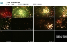 高清实拍视频丨夜空中的烟花