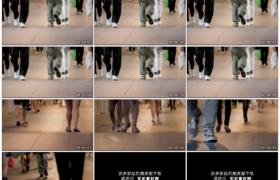 4K实拍视频素材丨低角度拍摄来来往往的人群脚步延时摄影