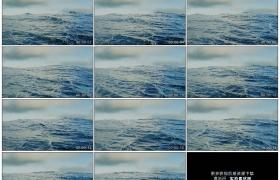 高清实拍视频素材丨海风吹起海面上海浪翻滚