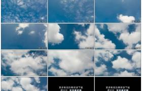 4K实拍视频素材丨蓝天上白云涌动飘散延时摄影