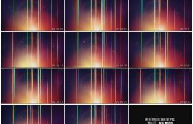 高清动态视频素材丨不断变幻的彩色线条和动态粒子背景素材