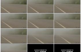 高清实拍视频素材丨摇摄浓雾弥漫的宽阔道路