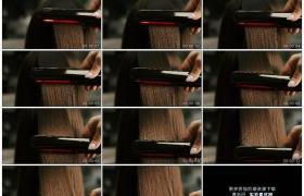 4K实拍视频素材丨特写做头发拉直头发