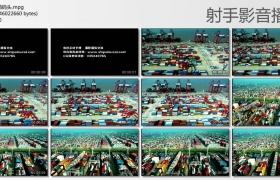 [高清实拍素材]航拍集装箱码头