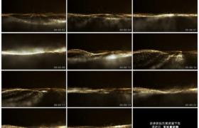 高清动态视频素材丨高低起伏飘飞的金色动态粒子背景