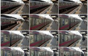 高清实拍视频素材丨日本东京火车站列车到站和离开