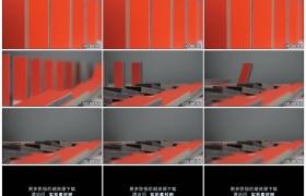 4K实拍视频素材丨连续倒塌的红色多米诺骨牌