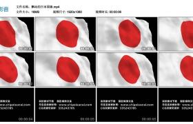 高清实拍视频丨飘动的日本国旗