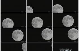 高清实拍视频素材丨一轮明月从漆黑的夜空中缓缓升起