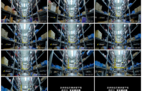高清实拍视频素材丨移摄堆满包裹的快递分拣仓库