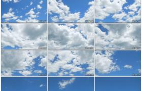 高清实拍视频素材丨湛蓝的天空中白云快速流动