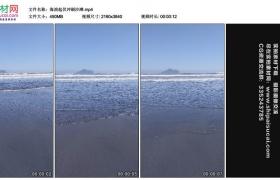 4K实拍视频素材丨海浪起伏冲刷沙滩