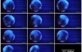 4K动态视频素材丨数字世界全球蓝色循环动态背景