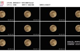 高清实拍视频丨漆黑的夜空中一轮明月缓缓升起