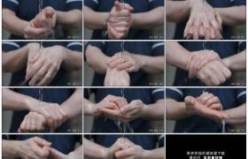4K实拍视频素材丨特写男子用清水清洗双手