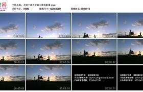 高清实拍视频丨夕阳下逆光中的火箭发射塔