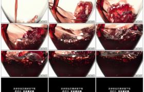 高清实拍视频素材丨特写往透明酒杯中倒红酒慢镜头