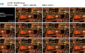 【高清实拍素材】城市夜景车流