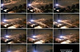 4K实拍视频素材丨特写工厂数控机床上等离子切割机切割金属火花四溅
