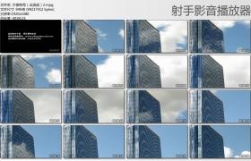 【高清实拍素材】大楼特写(云流动)2