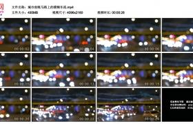 4K视频素材丨城市夜晚马路上的模糊车流
