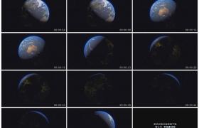 4K实拍视频素材丨地球在宇宙行星空间中自转