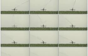 高清实拍视频素材丨农田里的高压喷灌机灌溉