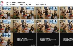 高清实拍视频素材丨瑜伽教室里练瑜伽的人