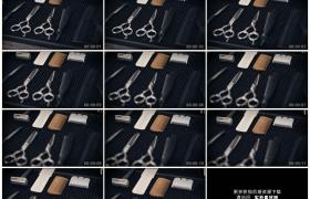 高清实拍视频素材丨摇摄理发师工具箱里的理发工具