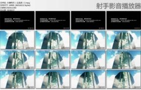 【高清实拍素材】大楼特写(云流动)1