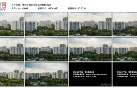 高清实拍视频丨晴空下的住宅区延时摄影