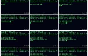 高清实拍视频素材丨程序员编写代码显示在黑色屏幕上的绿色代码