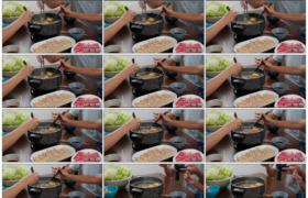 4K实拍视频素材丨家庭聚餐在一起吃火锅