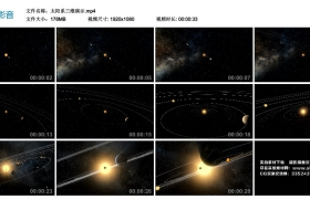高清动态视频丨太阳系三维演示