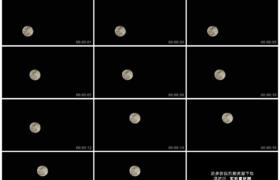 4K实拍视频素材丨一轮明月在漆黑的夜空中缓缓升起延时摄影