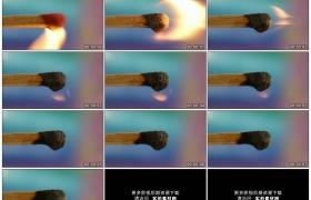 高清实拍视频素材丨特写一根火柴遇火燃烧