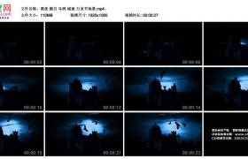 高清实拍视频丨黑夜 圆月 乌鸦 城堡 万圣节场景