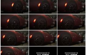 高清实拍视频素材丨车库里漂亮的红色跑车