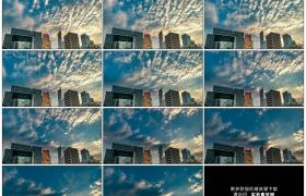 4K实拍视频素材丨黄昏日落时分香港城市建筑上空晚霞流动延时摄影