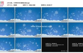 高清实拍视频素材丨冬季降雪雪花飘落动画