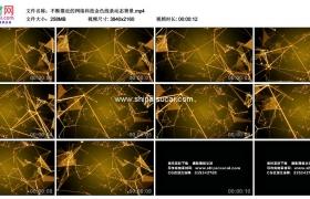 4K动态视频素材丨不断靠近的网络科技金色线条动态背景