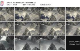 4K实拍视频素材丨仰拍城市高楼上空乌云流动延时摄影