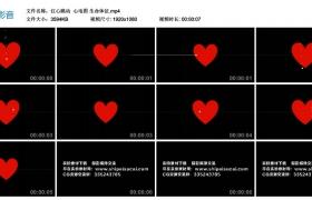 高清动态视频丨红心跳动  心电图 生命体征