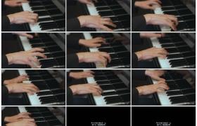 4K实拍视频素材丨特写男子双手按动钢琴琴键弹奏钢琴