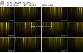 4K动态视频素材丨金色光线和微小粒子动态背景